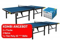 andro 2er Kombi Competition, blau + Netz Niveau + speedball 3S 72er
